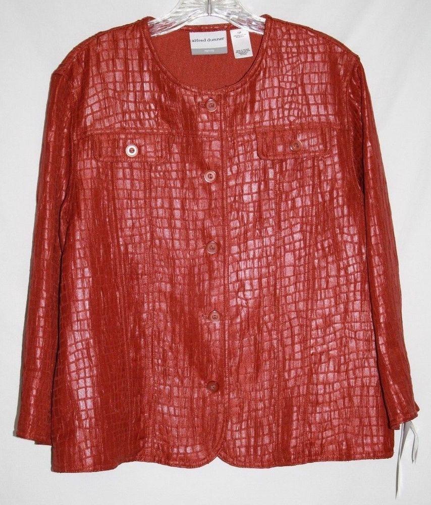 Alfred Dunner Petite 12P Jacket Blazer Button Up Autumn