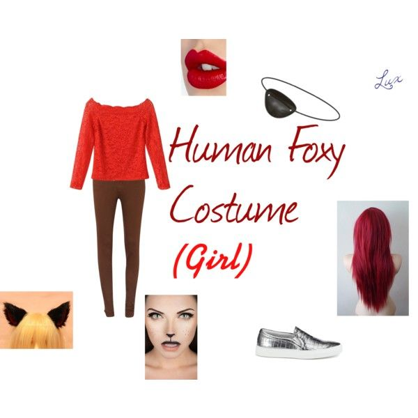 Human Foxy Costume Girl By Lux Silvermoon On Polyvore Foxy Costume Girl Costumes Fnaf Costume