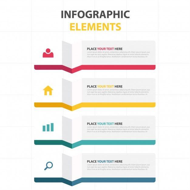 Modèle d\u0027infographie abstraite colorée Infographics, Template and - free bar graph templates