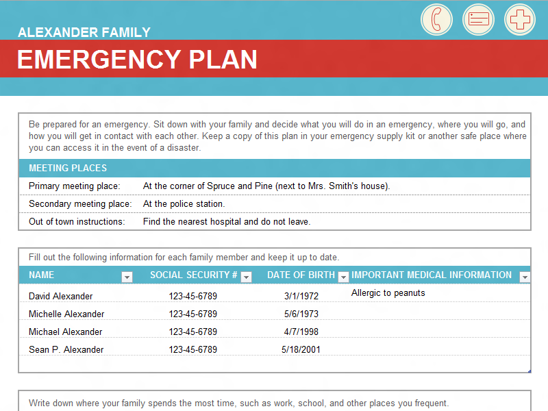 Im Gona Be Starting My Own Family Unit Soon Better To Be Safe Than - Family emergency plan template