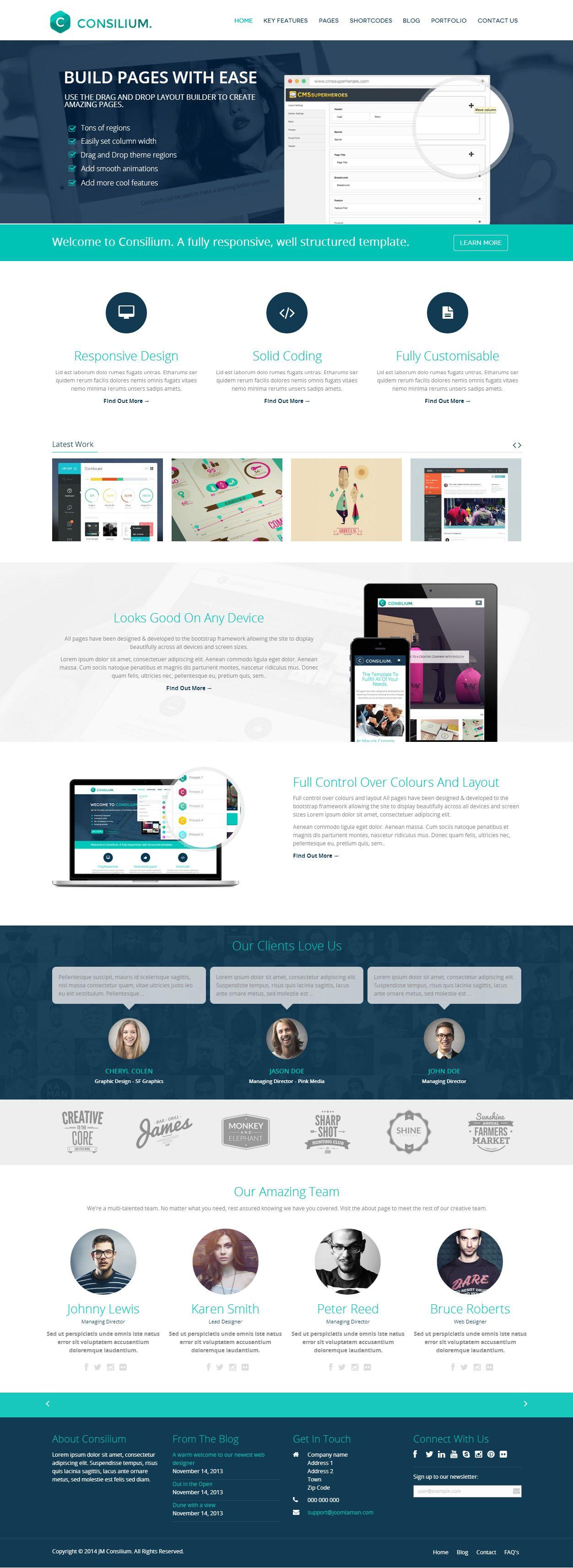 Consilium Premium Responsive Parallax Multipurpose Drupal Theme Drupal Joomla Templates Portfolio Web Design