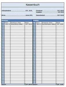 vorlage kassenbuch - Kassenbuch Muster