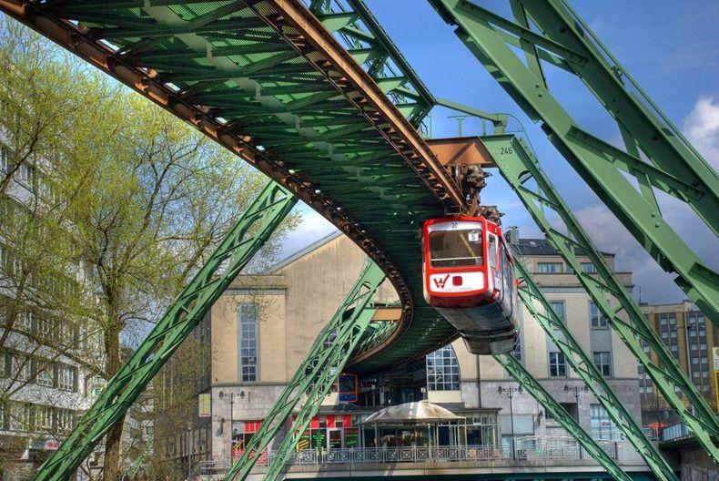 Wuppertal Schwebebahn Germany S Hanging Train Amusing Planet Wuppertal Train Heritage Train