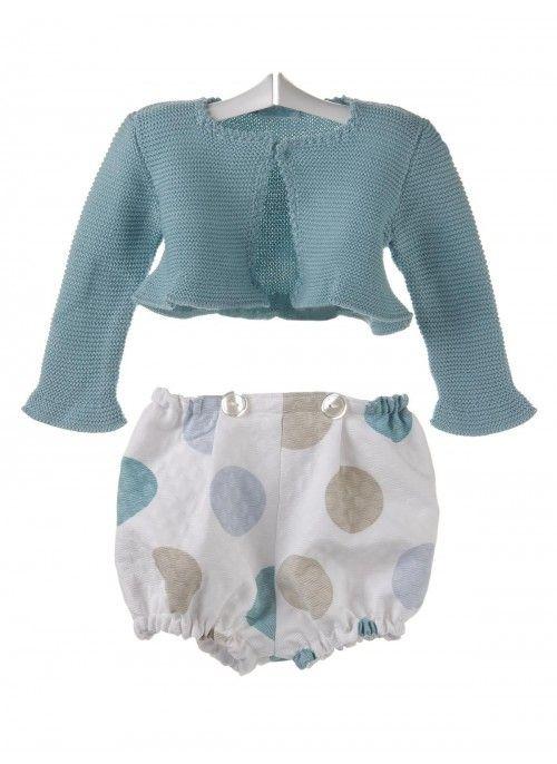 Conjunto para bebé de chaqueta de algodón y ranita de piqué  754f97917d1c