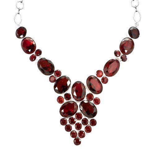 Garnet bib necklace