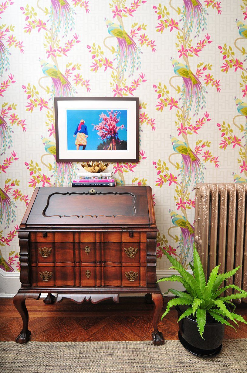 A color expert 39 s own brightly hued home nina campbell - Nina campbell paradiso wallpaper ...
