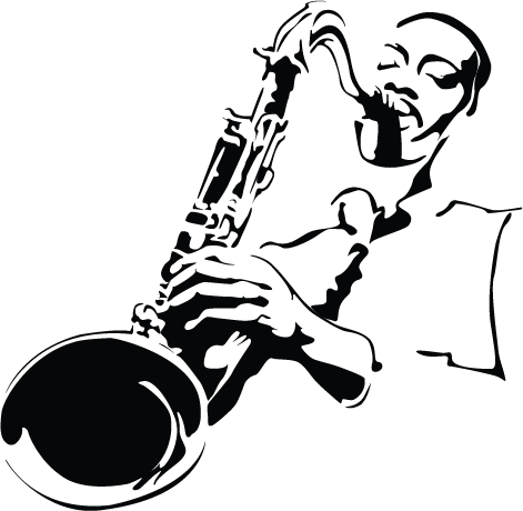 jazz art black and white - Google Search | Side Man | サックス ...