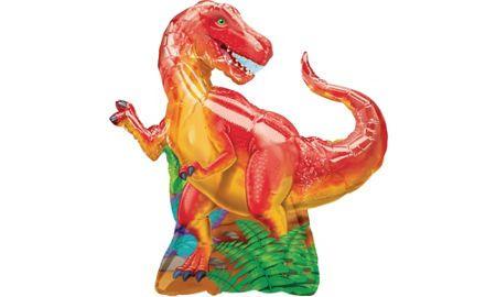 "Tyrannosaurus T-Rex Shaped Green Dinosaur 42/"" Supershape Foil Balloon Decoration"