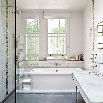 Aménagement d\'une salle de bains de 4m2 | Raffiné, Marie claire ...