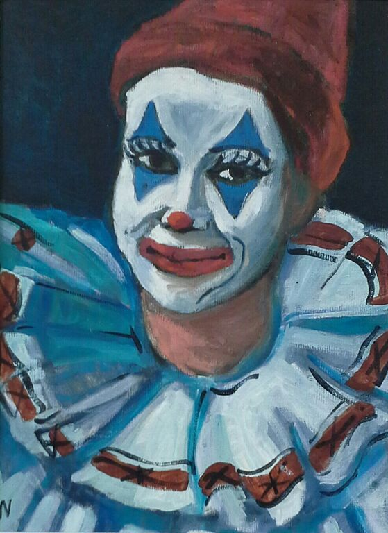 *Orpheus as a Clown 12 x 16 by Arnold Wood