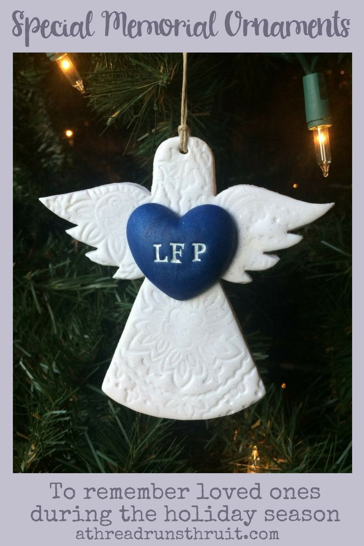 Beautiful memorial ornament and remembrance gift to honor
