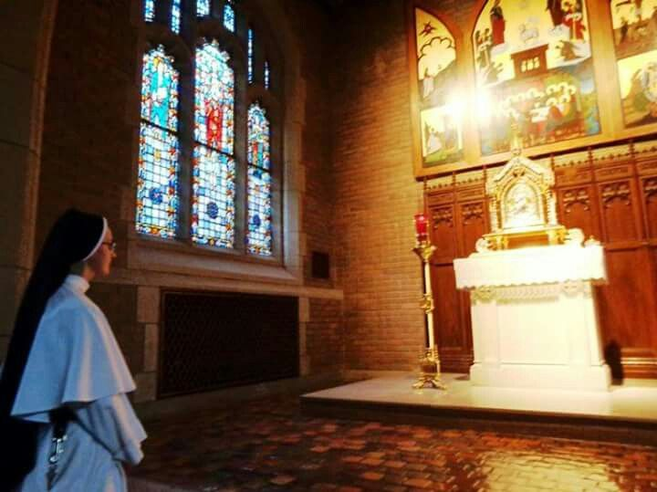 """""""My sweetest Joy is to be in the presence of Jesus in the holy Sacrament. I beg that when obliged to withdraw in body, I may leave my heart before the holy Sacrament. How I would miss Our Lord if He were to be away from me by His presence in the Blessed Sacrament!"""" - St. Katharine Drexel of Dominican Sisters of Mary, Mother of the Eucharist"""