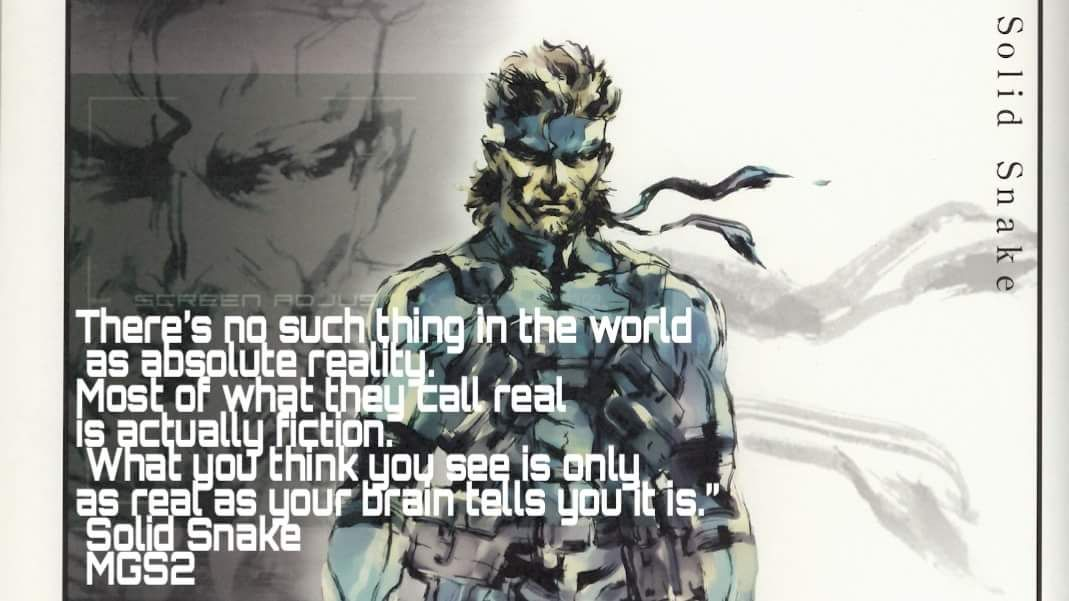 Mgs2 Solid Snake Quote Snake Quotes Quotes Fiction
