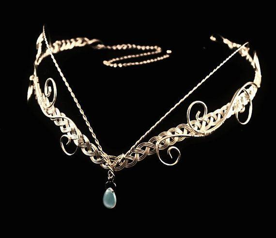 Elven moonstone Circlet silver plated tiara. silver plated. £25.00 #elven #tiara (M)