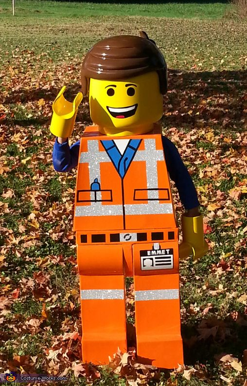 Emmet from lego movie halloween costume contest at costume works cody my son wanted to be emmet from lego movie for halloween but after searching every retailer with no luck i decided to make it myself his costume is solutioingenieria Image collections