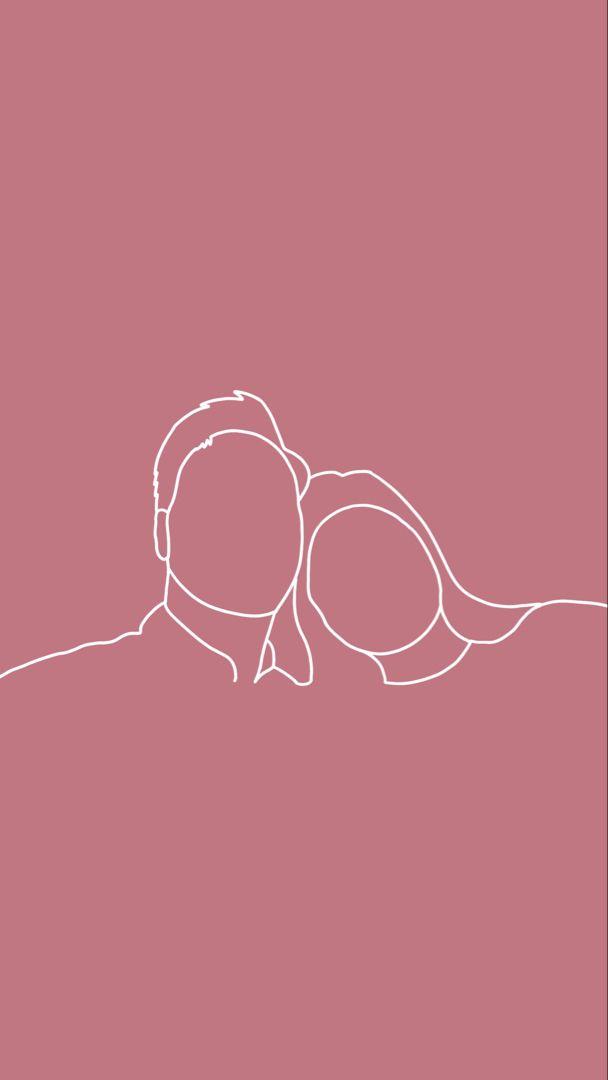 One Line Valentines Day Illustration