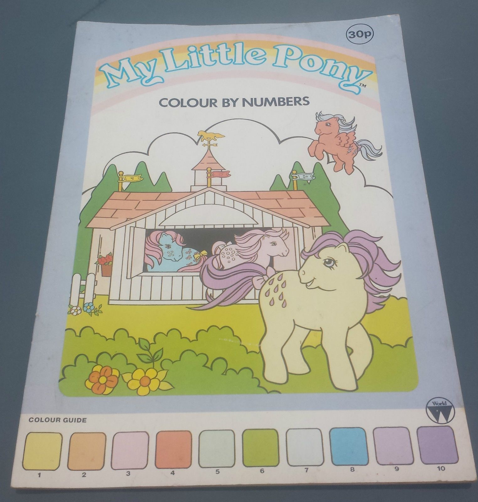 My Little Pony G1 Colour By Number Book 1985 RARE