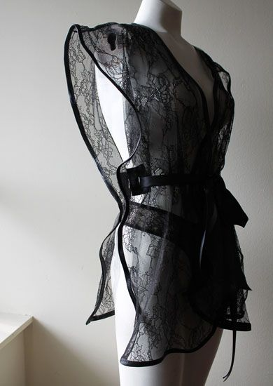 This Beauty Is Back In Stock Danika Black Vintage Lace Kimono Jacket With Satin Ribbon