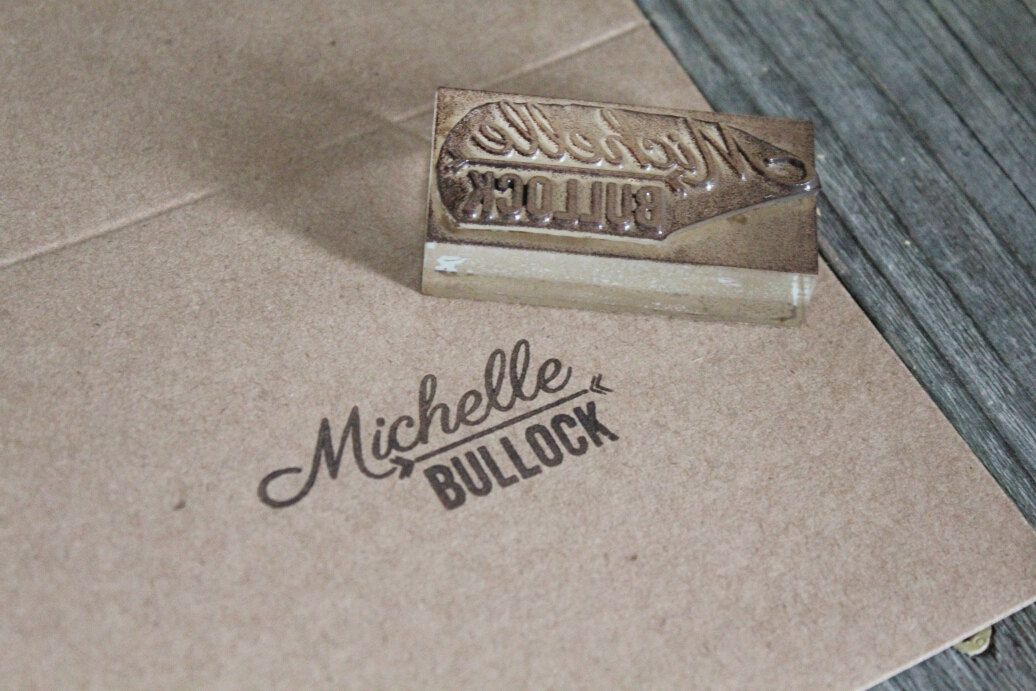 kind of what i m trying to do custom name stamp 2 x 1
