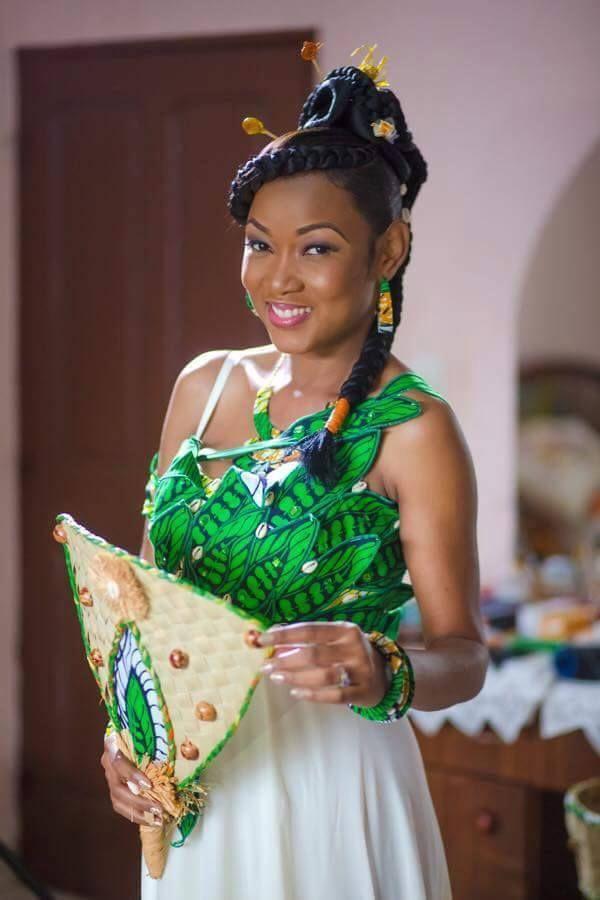 En Images Le Mariage Coutumier De Lartiste Gabonaise