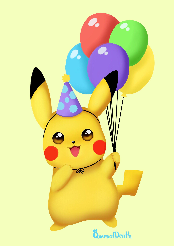 Birthday Pikachu  Birthday pikachu, Pokemon birthday card