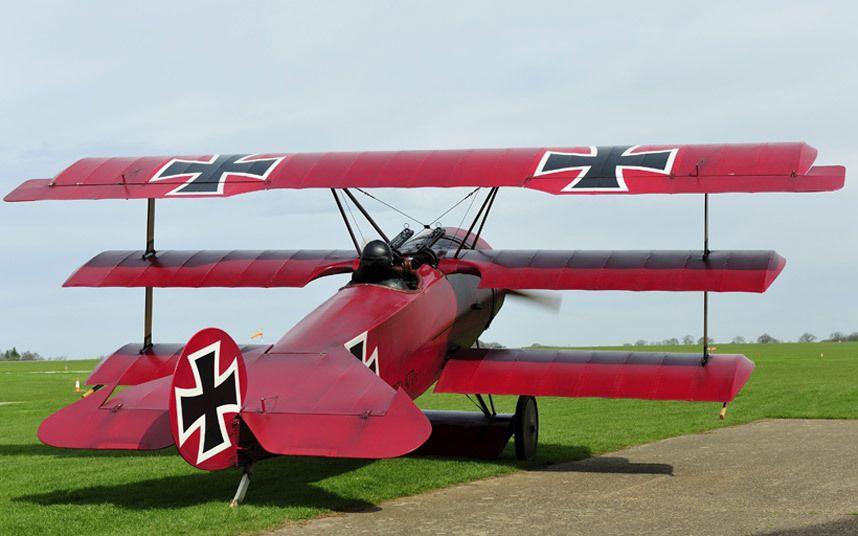 Red Baron's WWI German Fokker triplane rebuilt by flying ...  Red Baron Biplane