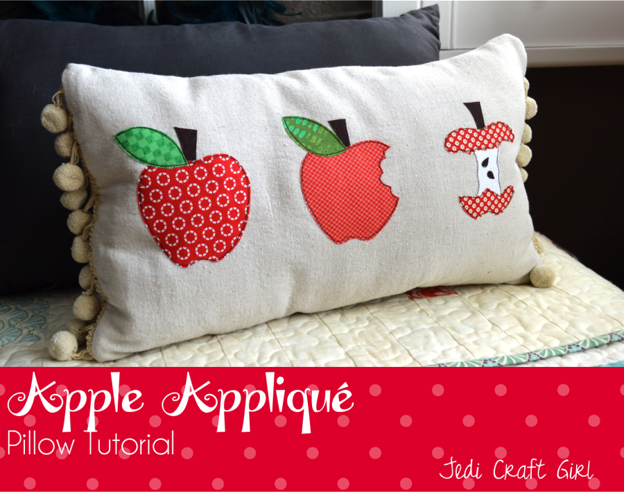 apple appliqué pillow tutorial from Jedi Craft Girl & Free Fall Applique Patterns   Fall applique Applique patterns and ... pillowsntoast.com