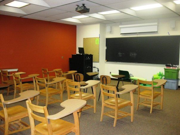 A typical classroom before all the color...