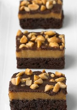 Triple-Layer Peanut Butter Brownies – Elevate brownies (in both senses of the word) with layers of chewy and creamy. Chocolate plus peanut butter plus creamy frosting means a tall stack of yum.