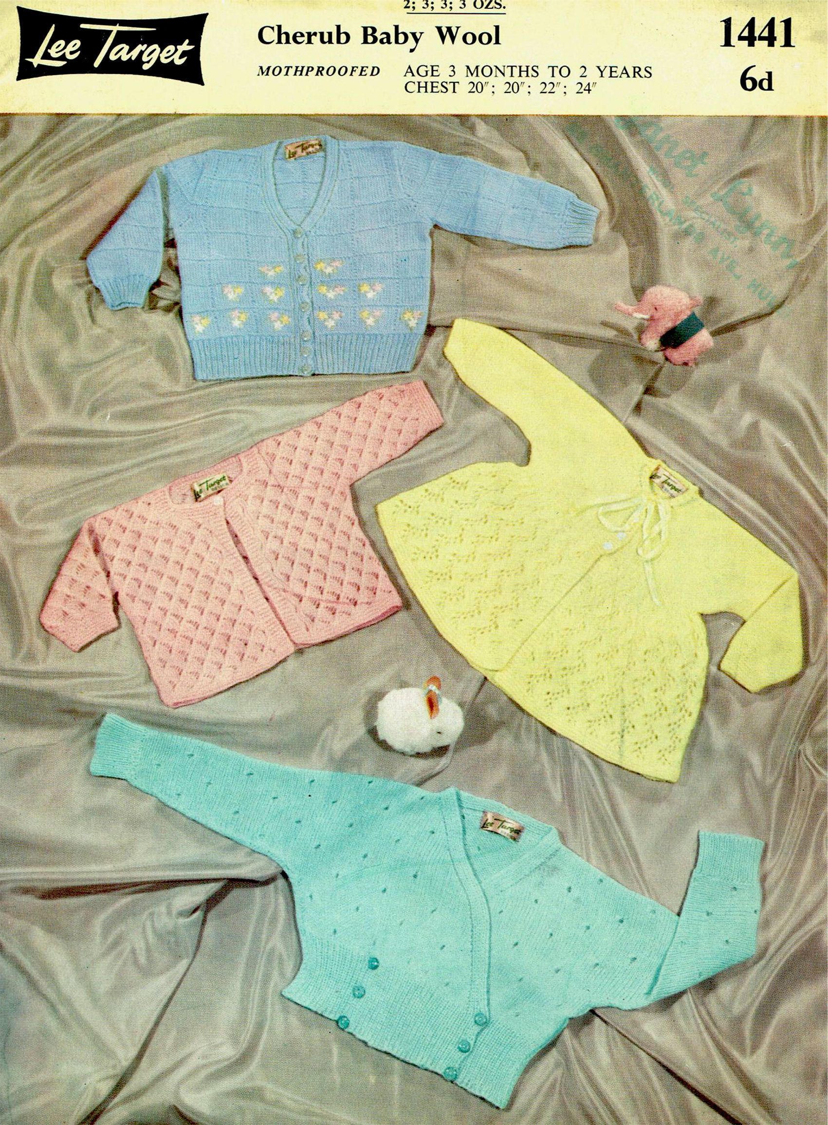 PDF Vintage 1950s Baby Bolero Knitting Pattern Booklet Lee | For the ...