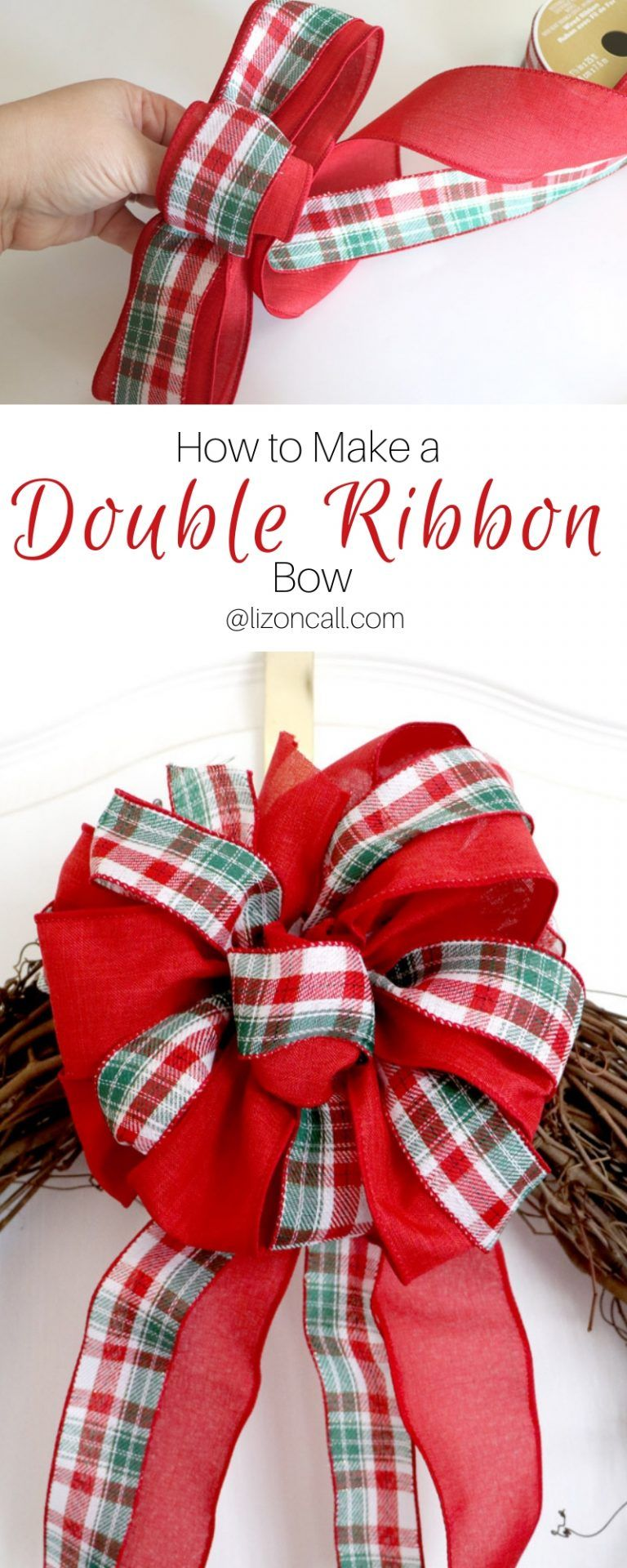 How To Make A Double Ribbon Bow For A Wreath Ribbon bow