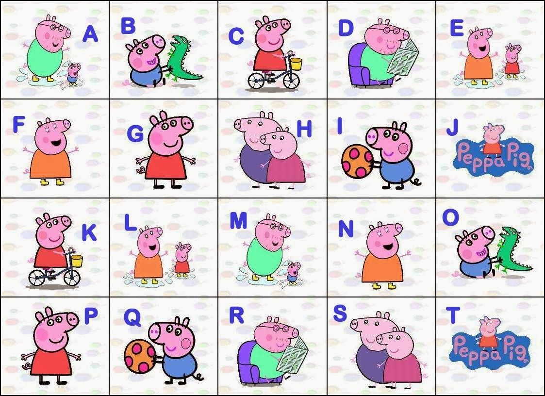 Alphabet Of Peppa Pig And Her Family