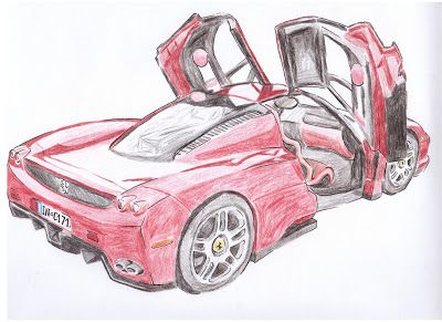 How To Draw A Ferrari Enzo Ferrari Enzo Ferrari Drawing Lessons
