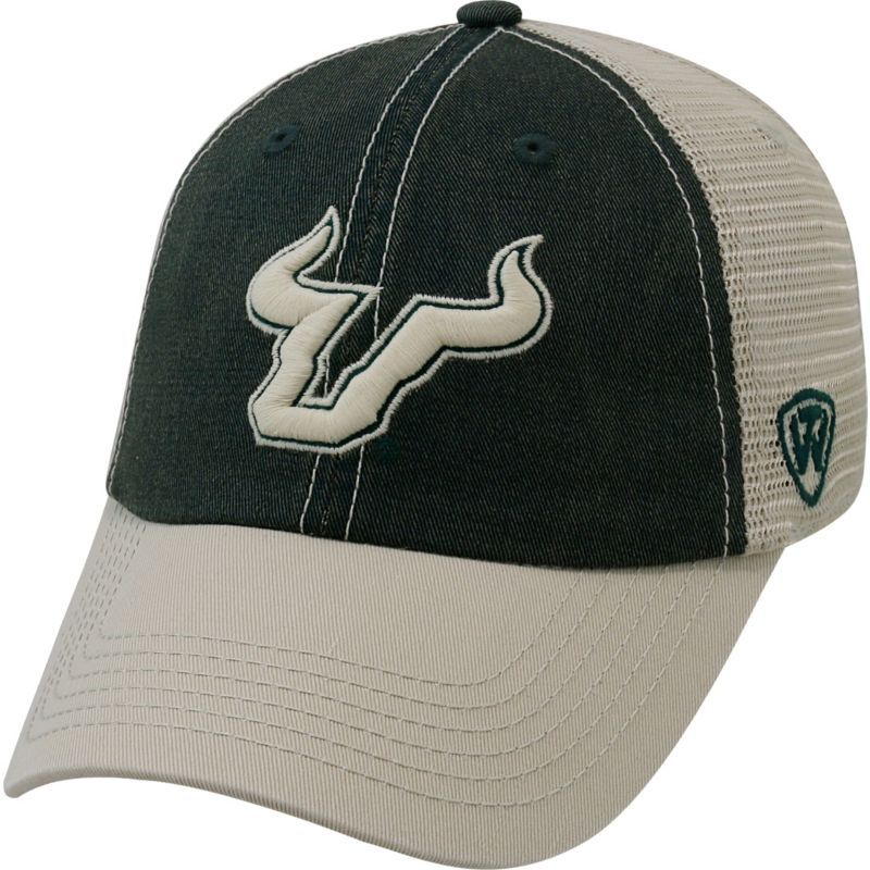 7d965a81f9a5ff Top of the World Men s South Florida Bulls Green White Off Road Adjustable  Hat