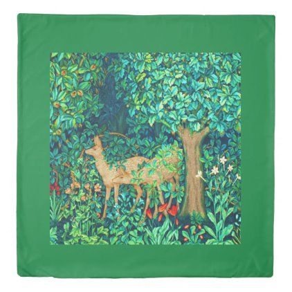 William Morris Forest Deer Tapestry Print Duvet Cover Zazzle Com Duvet Covers Tapestry Duvet Covers Twin