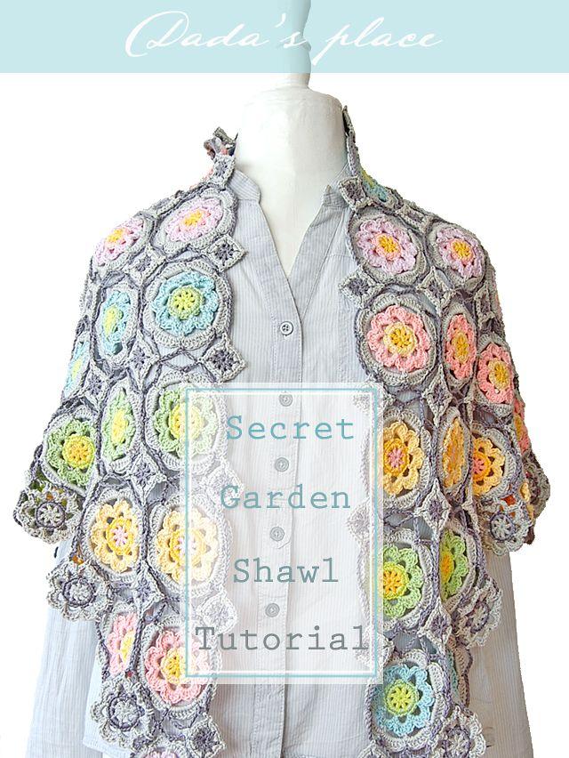 Dada\'s place: Crochet pattern | work with wool | Pinterest | Chal de ...