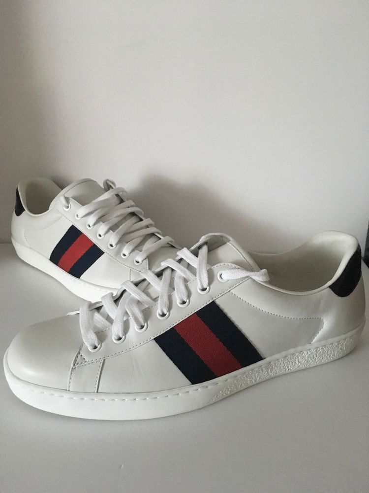 21fb1e1fd GUCCI New Ace Clean Low-Top Sneakers White Leather Shoes Size 9.5 $580 # fashion #clothing #shoes #accessories #mensshoes #athleticshoes (ebay link)