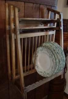 Slatted antique plate rack. Will use this design to better my cupboard. & Slatted antique plate rack. Will use this design to better my ...
