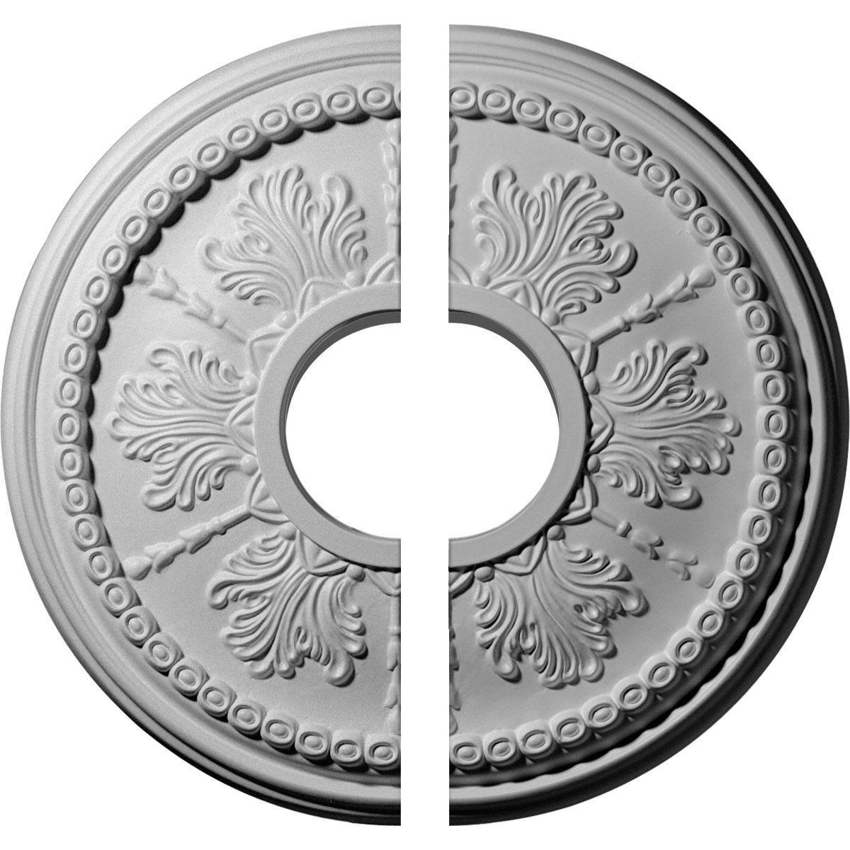"Tirana 13.88"" H x 13.88"" W x 1.25"" D Ceiling Medallion"