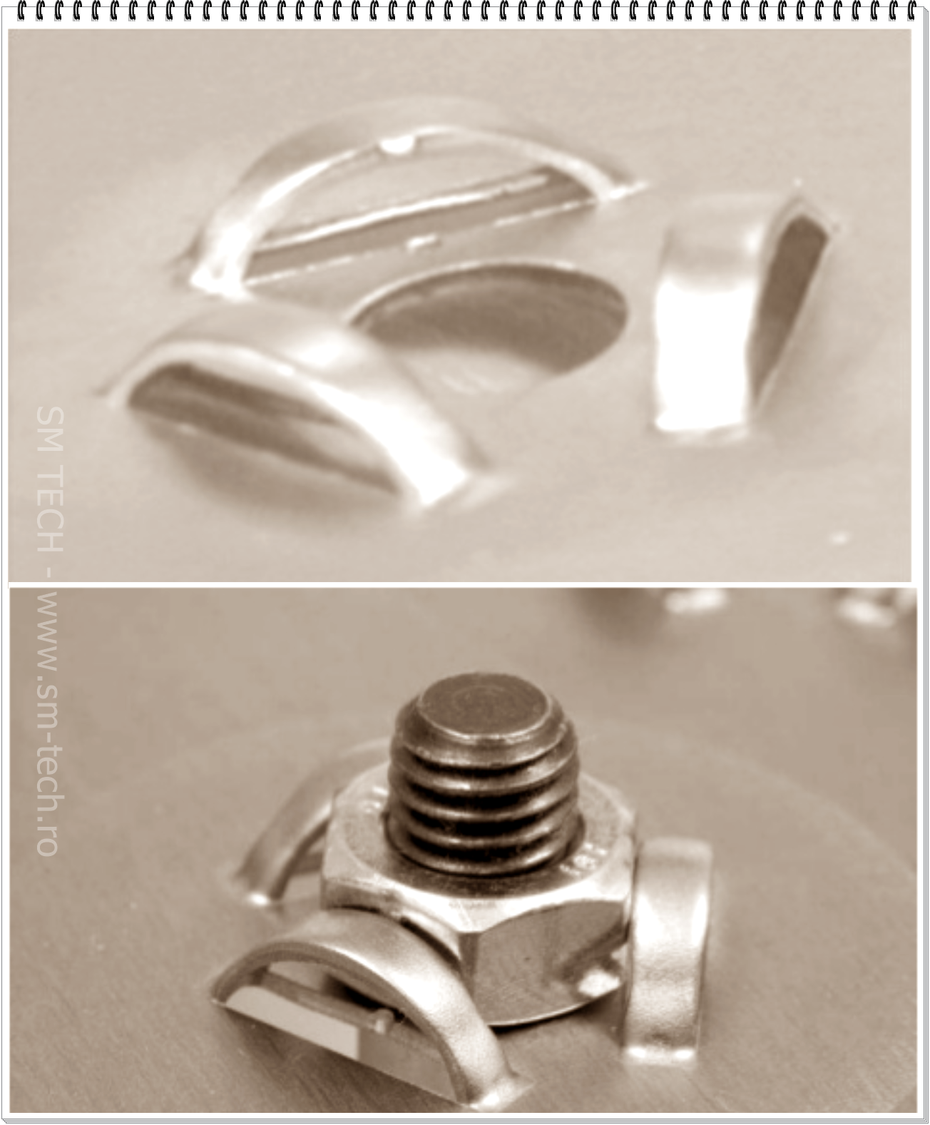 Scula Triple Bridge Pentru Deformare Blocare Piulita Disponibila In Varianta Trumpf Si Thick Turret Metal Sheet Design Sheet Metal Fabrication Metal Design