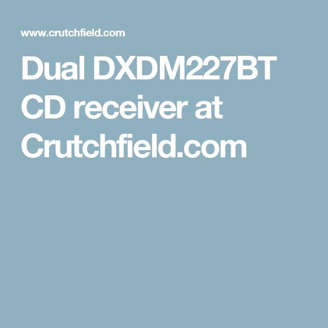 Dual DXDM227BT CD receiver at Crutchfield com | woo pig sooiee!