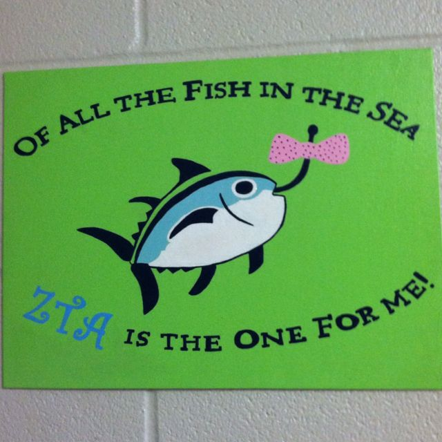 All the fish in the sea. #ZTA