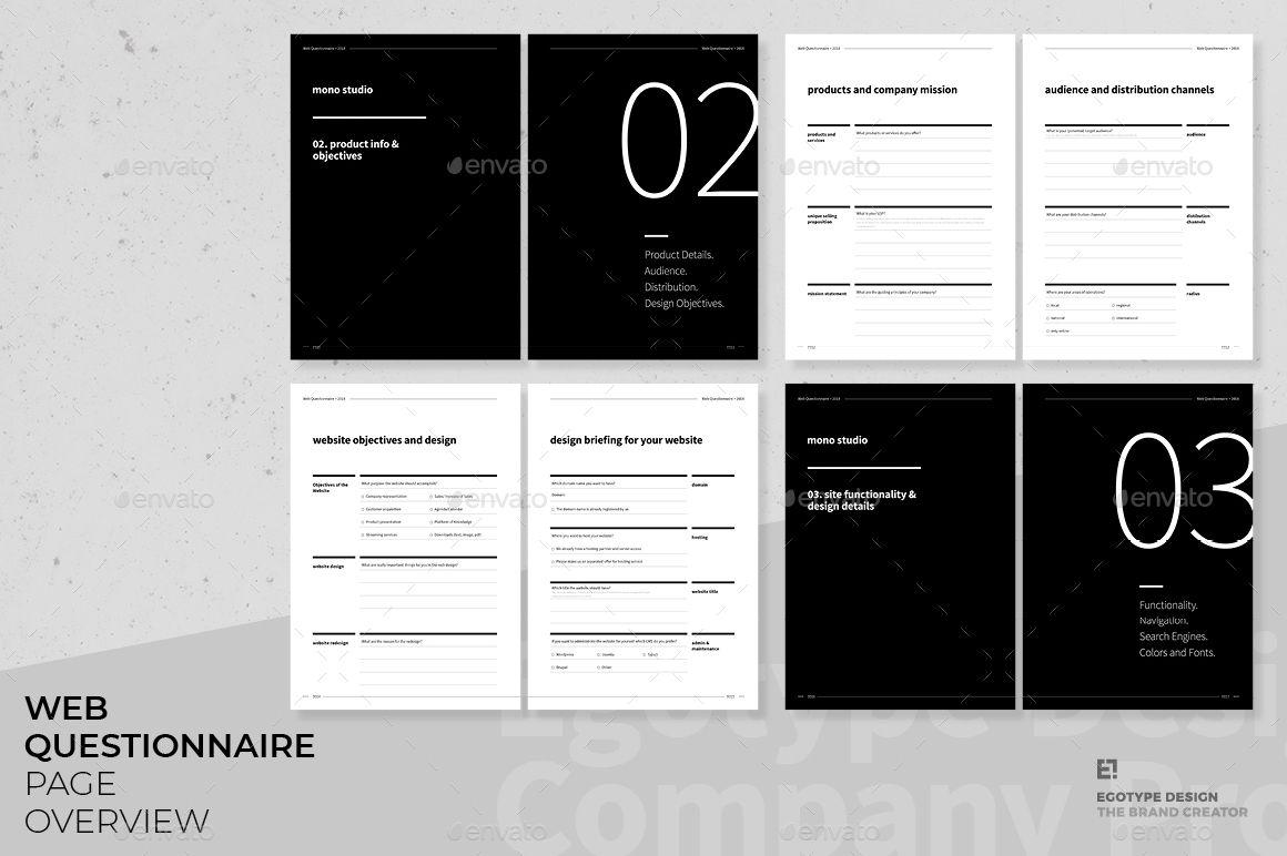 Questionnaire Web Design Web Design Invoice Design Free Business Card Templates
