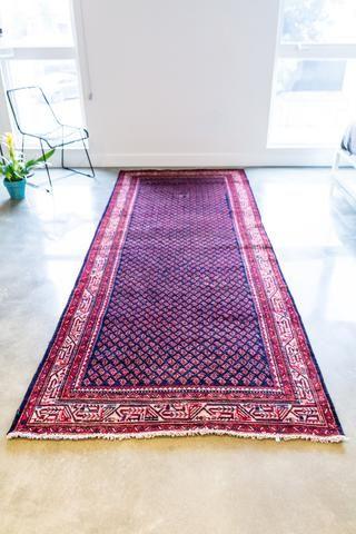 3x10' vintage persian runner rug hallway kitchen runner | kitchen