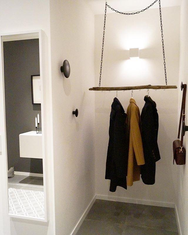 Unsere DIY Garderobe Den Ast habe ich bei Dawanda bestellt und - diy garderobe