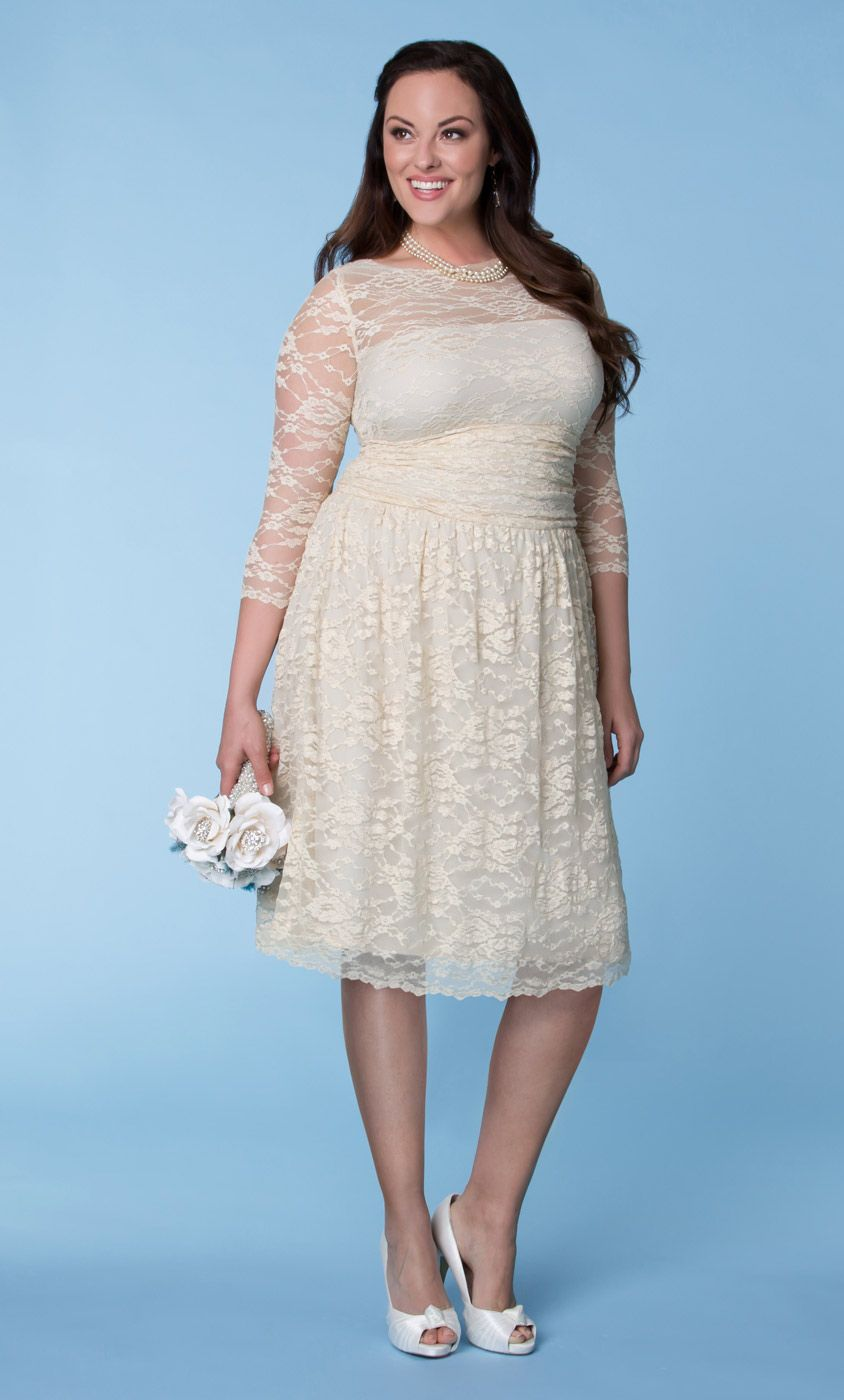 Check out the deal on Aurora Lace Wedding Dress at Kiyonna Clothing ...