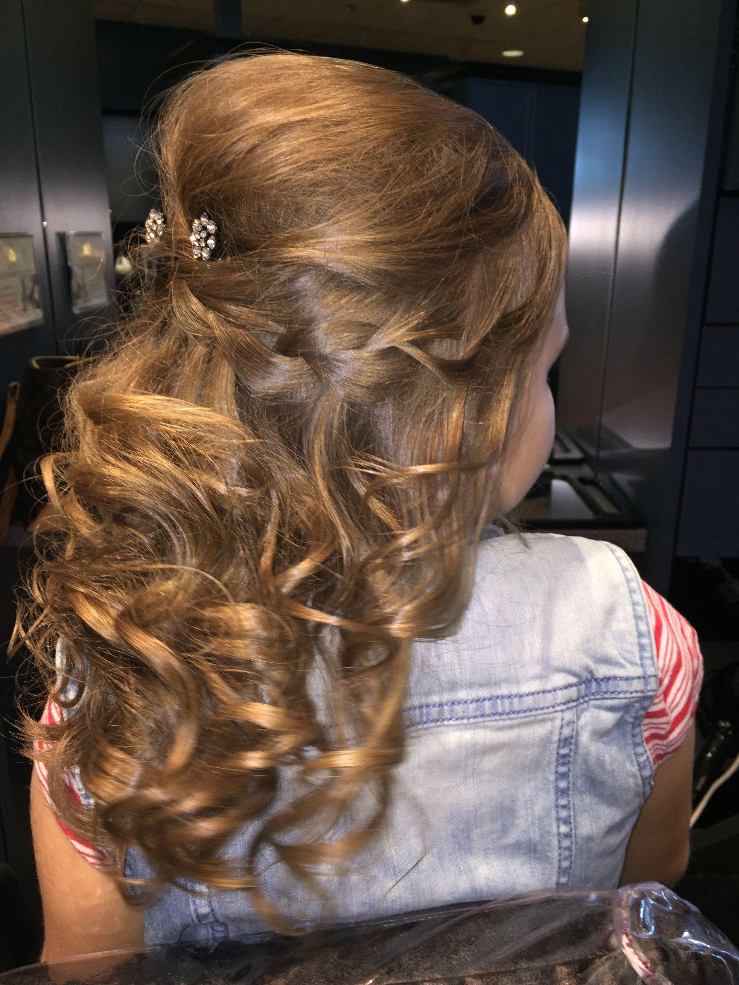 little girls' hair little girls daddy daughter dance hair