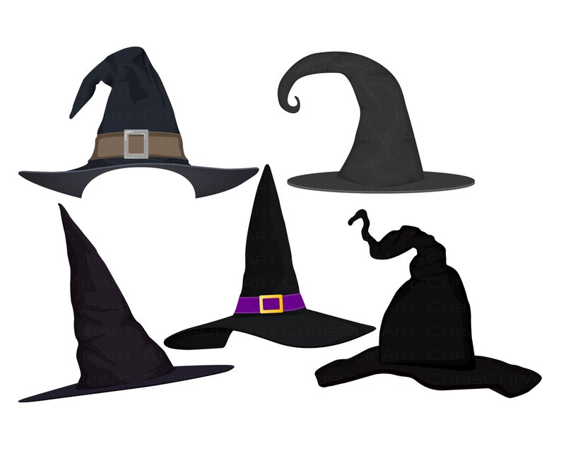 Witch Hat Bundle Witch S Hat Png Witch Svg Clipart Etsy Witch Clipart Witch Hat Halloween Clipart