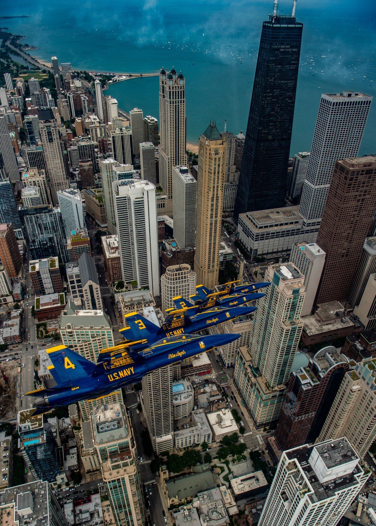 Aviation Blogs The Blue Angels over Chicago, from their