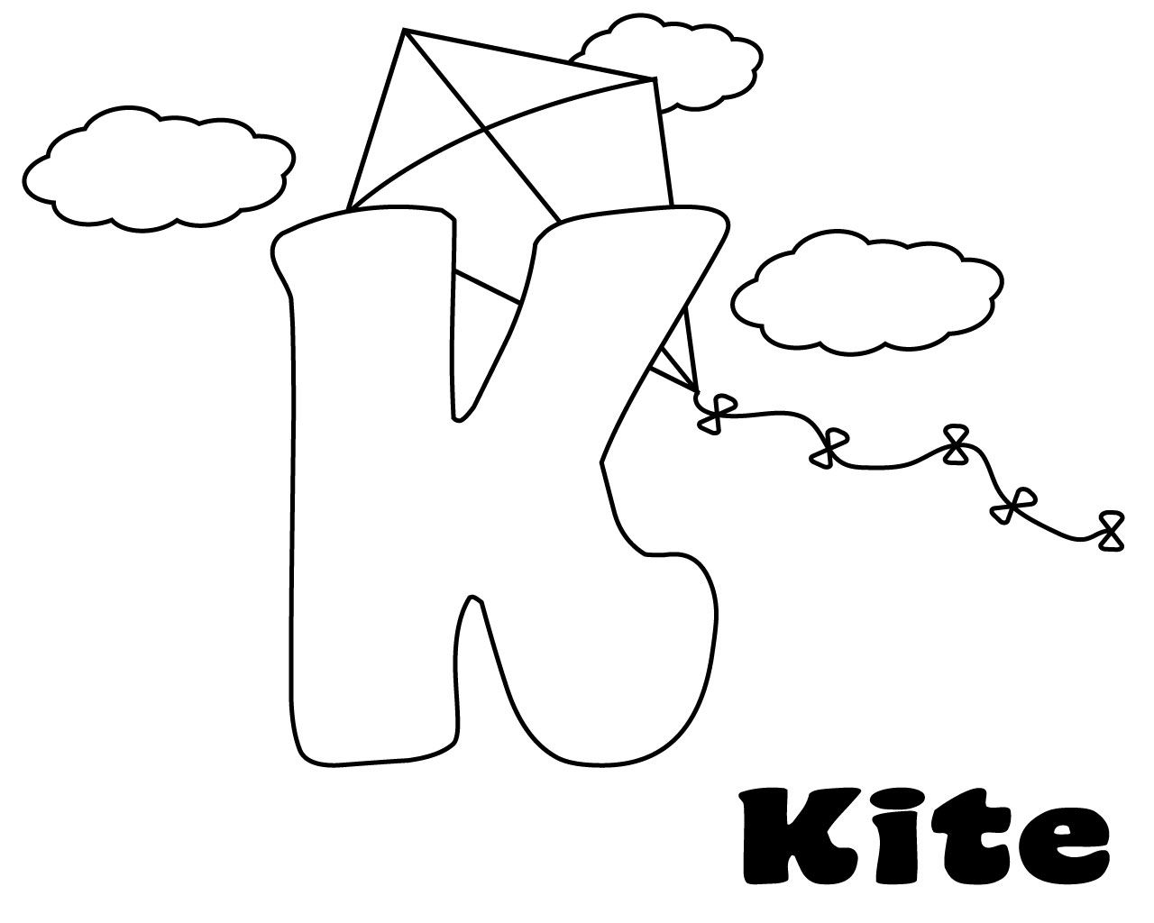 Letter K Coloring Pages For Preschoolers
